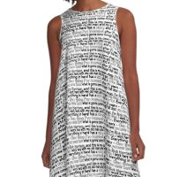 """This is my pawn shop"" text pattern A-Line Dress"