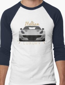 Italian luxury Men's Baseball ¾ T-Shirt