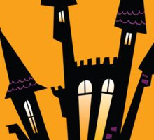 Vector - Halloween haunted house. Haunted house silhouette. Vector icon. Sticker
