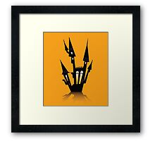 Vector - Halloween haunted house. Haunted house silhouette. Vector icon. Framed Print