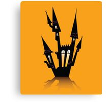 Vector - Halloween haunted house. Haunted house silhouette. Vector icon. Canvas Print