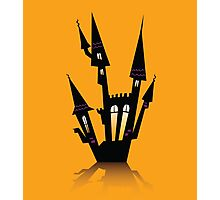 Vector - Halloween haunted house. Haunted house silhouette. Vector icon. Photographic Print
