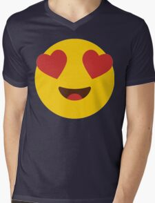 Cute Love Whatsup Emojoy // Cute Emoticon Mens V-Neck T-Shirt