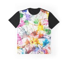Watercolor Splashes Graphic T-Shirt