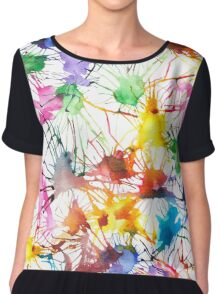 Watercolor Splashes Chiffon Top