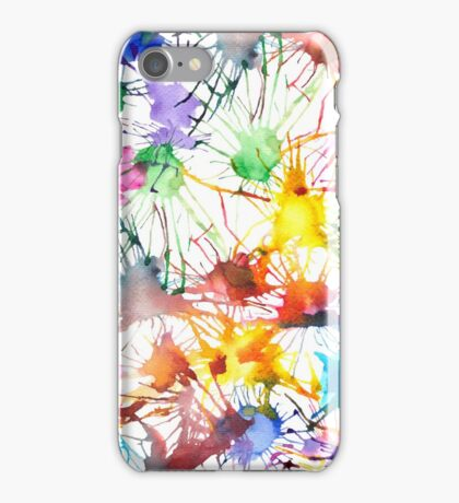 Watercolor Splashes iPhone Case/Skin