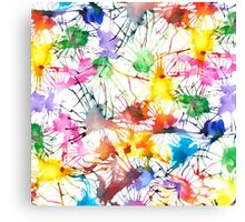 Watercolor Splashes Canvas Print
