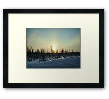 On a Winter Afternoon Framed Print