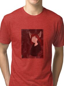 The Girl Who Howled Wolf Characters: Genevieve Tri-blend T-Shirt