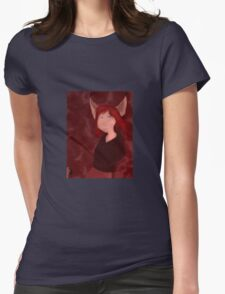 The Girl Who Howled Wolf Characters: Genevieve Womens Fitted T-Shirt