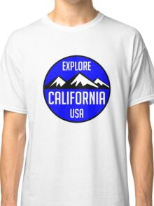 EXPLORE CALIFORNIA USA MOUNTAINS BIKING HIKING CAMPING CLIMBING TAHOE MAMMOTH Classic T-Shirt