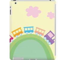 Cartoon train. Wonderful train is going through pastel country iPad Case/Skin