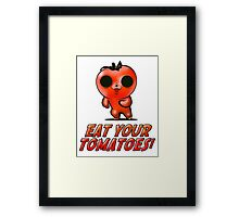 Eat Your Tomatoes Framed Print