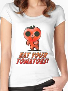 Eat Your Tomatoes Women's Fitted Scoop T-Shirt