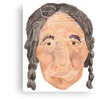 Face of a Nomad Canvas Print