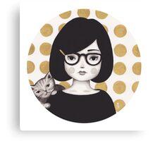 Kitty Girl IIII Canvas Print