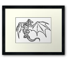Skyrim Dragon Framed Print