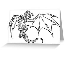 Skyrim Dragon Greeting Card