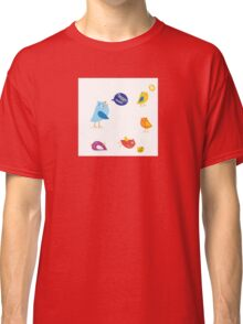 Colored twitter birds set. Twitter birds set in different colors Classic T-Shirt