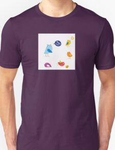 Colored twitter birds set. Twitter birds set in different colors Unisex T-Shirt