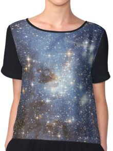 Blue Galaxy Chiffon Top