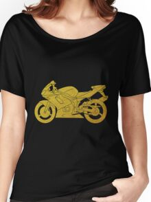 Gold Motorbike Women's Relaxed Fit T-Shirt