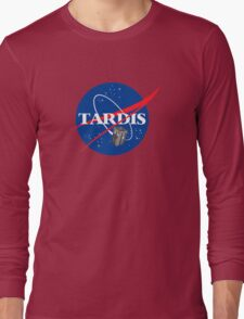 Tardis NASA, Parody Dr Dalek Who Doctor Space Time BBC Tenth Police Box Long Sleeve T-Shirt