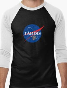 Tardis NASA, Parody Dr Dalek Who Doctor Space Time BBC Tenth Police Box Men's Baseball ¾ T-Shirt