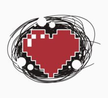 8-Bit Gaming Heart Kids Clothes