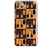 Headphone and Mouse Pattern iPhone Case/Skin