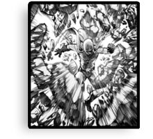 one_man_punch_explosion Canvas Print
