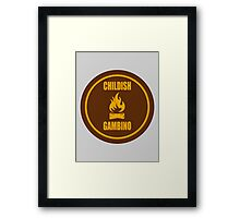 Camp Patch Framed Print