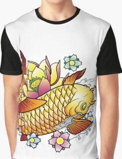 Koi Fish with Lotus Graphic T-Shirt