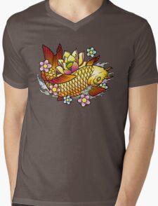 Koi Fish with Lotus Mens V-Neck T-Shirt