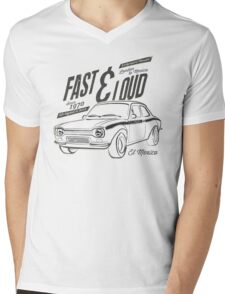 NEW Men's Classic Rally Car T-Shirt Mens V-Neck T-Shirt