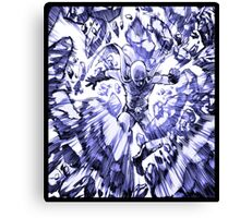 one_man_punch_explosion_blue Canvas Print