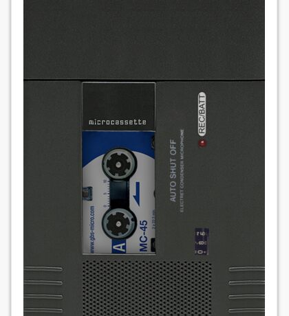 Microcassette Recorder Sticker