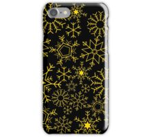 Gold and black snowflakes iPhone Case/Skin