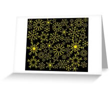 Gold and black snowflakes Greeting Card