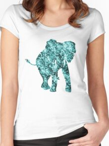 Watercolor Elephant  Women's Fitted Scoop T-Shirt