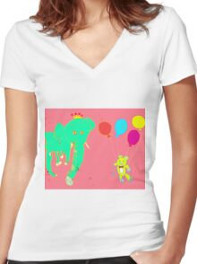 Life's a Party, Invite Yourself Women's Fitted V-Neck T-Shirt