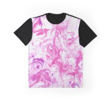 Marble pink background Graphic T-Shirt
