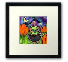 Pumpkin Patch Queen Framed Print