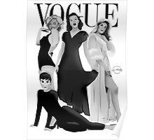 """VOGUE"" Marilyn Monroe, Judy Garland, Audrey Hepburn & Elizabeth Montgomery Poster"