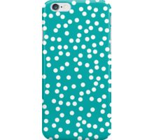 Cute Teal and White Polka Dots iPhone Case/Skin
