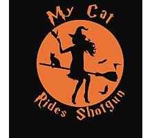 my cat rides shotgun Photographic Print