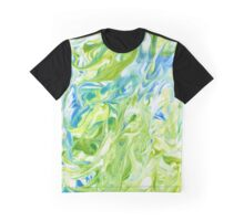 Marble natural green watercolor texture Graphic T-Shirt