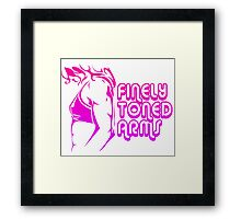 Finely Toned Arms Framed Print