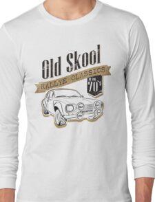 NEW Men's Classic Rally Car T-shirt Long Sleeve T-Shirt