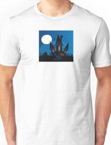 Haunted scary house. Old scary mansion. Illustration. Unisex T-Shirt